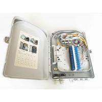 Quality 24 Cores FTTH Fiber Optic Outdoor Distribution Box IP55  Wall Mount Type And Pole wholesale