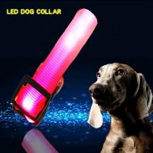 China C906 Wholesale Rechargeable Orange Illuminated Dog Leash and Collar on sale