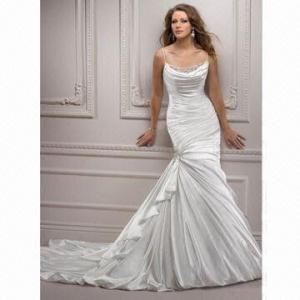 Quality Spaghetti Strap Famous Design Wedding Dress wholesale