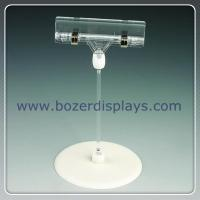 Shenzhen factory produce plastic pop sign clip with base for sale