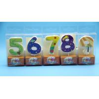 Quality Lovely 0-9 Number Birthday Candles Set With Glitter Decoration Smokeless wholesale