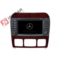 Quality 1024 * 600 HD 7 Inch Mercedes S Class Dvd Player , Mercedes Benz Car Stereo OBD Support wholesale