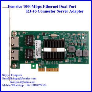 Quality 1000Mbps Dual Port Server Ethernet Network Card, RJ-45 Copper Connector Femrice 10002PT wholesale