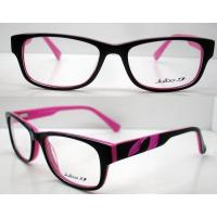 Quality Hand Made Black & Pink Popular Acetate Eyeglasses Frames For Women With Demo Lens wholesale