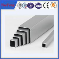 China competitive price and high quality natural/silvery anodized square aluminum tube on sale