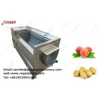 Quality High efficient automatic customizable fruit and vegetable brush washing machine wholesale