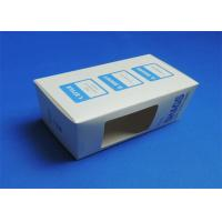 Quality PVC Window Custom Packaging Boxes Full color / Single Color Gloss Lamination wholesale