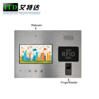 Quality 7 Inch Industrie Touch Panel Pc With Fingerprinter For Access / Door Control wholesale