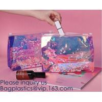 Quality Promotional EVA cosmetic pouch bag with a rubber handle,eco friendly transparent BSCI women EVA cosmetic bag, bagease wholesale