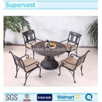 China Luxury Cast Aluminum Patio Furniture Garden Dinning Table and Chair Sets on sale