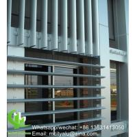 China OutdoorAluminum Airfoil Louvers , Exterior Window Shade Louvers Akzo Nobel Coating on sale