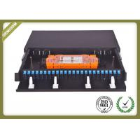Quality 48 Core 1U Type Fiber Optic Patch Panel Slidable ODF For SC Adapter Port wholesale