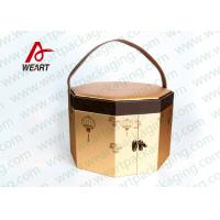 China Art Paper Custom Hexagon Gift Box , Corrugated Cardboard Boxes With Lids on sale