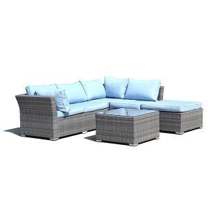 Quality Breadth 750mm Depth 750mm Rattan Wicker Sofas , Garden Corner Sofa Set Fashion Design wholesale