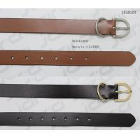 Quality SGS Passed Mens Casual Belts With D Shape Metal Loop & Matt Gun Metal Buckle wholesale
