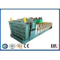 Buy cheap three layer roofing sheet roll forming making machine with high speed from wholesalers