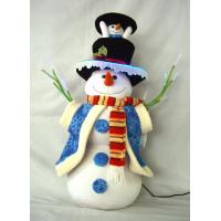 Quality Stuffing Dressed Snowman Battery Power Musical Educational Toys for Preshoolers wholesale