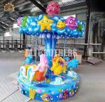 Quality Safety Fairground Carousel Horses  , Indoor Amusement Park Rides Mini 6 Seats wholesale