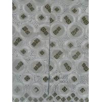 Quality Handcut Nigerian Lace Fabrics Grey , African Cotton Baby Lace wholesale