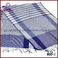 Quality Fashion Polyester Striped Knitted Scarf (W68-1) wholesale