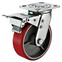 Quality Small Red Caster Wheels / Heavy Duty Locking Swivel Casters With Plate Fitting wholesale