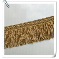 China 2017 Fashion Polyester Brown Bullion Trimmings Tassel Fringes Used For Garment on sale