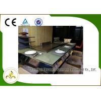 Quality 9 Seats Electric Heating Front Air Supply Teppanyaki Table Grill , Indoor Teppanyaki Grill wholesale
