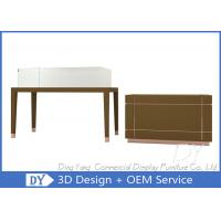 Quality Simple Nice Matte Brown Jewelry Shop Counter / Jewelry Counter Showcase wholesale