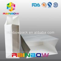 China Take Away Fast Food Paper Bag Packaging , Bread Flat Bottom Pouches Grease Proof on sale