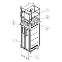 Quality Construction Material / People Carrier Rack And Pinion Hoists CH750 750kg Single Cage wholesale