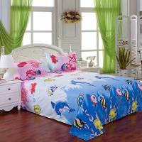 Quality Wholesale Hotestfashion pure Cotton undersea world blue ocean fish all around bedding sets wholesale