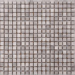 Quality Wood Grain Stone Mosaic Bathroom Sink Splashback Tiles , Bathroom Countertop Tile Morden Design wholesale