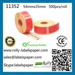 Quality Dymo 11352 Compatible labels,54mm*25mm,500pcs per roll,7 colors S0722430,dymo labels,label wholesale