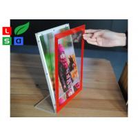 Quality L Shape Ctystal Thin Light Box Acrylic Frame For Desktop Menu Sign Board wholesale