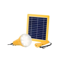China Remote Control 3W Solar Home Lighting Systems 1 Lamp Indoor Solar Light Kit on sale