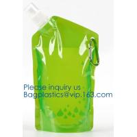 Quality Customized Climbing Printed BPA Free Foldable T-shirt Shaped Bottle Collapsible Water Bottle Bag,250ml-600ml Foldable Co wholesale