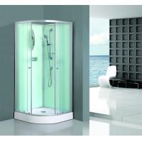 Quality Bath White Sector Shower Enclosure Shinning Chrome Framed With Mirror wholesale