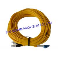 Quality Duplex SM G.655 optical fiber patch cord FC / UPC - LC / UPC For Telecoms wholesale