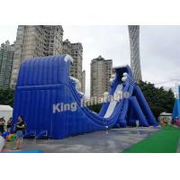 Quality New Fashion Blue Commercial Giant Inflatable Slide For Adult And Kids wholesale