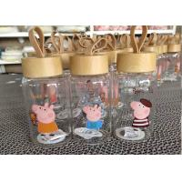 Quality Peppa Pig Glass Bottle Double Wall Coffee Glass / Borosilicate Glass Cup wholesale