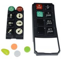 Quality Black Tv Remote Control Buttons , Carbon Pill Keypad With Spraying Coating PU Coating wholesale