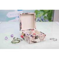 Quality L13*W13*H7CM Modern Wood Furniture Fabric Covered Jewelry BoxFor Wedding Party wholesale