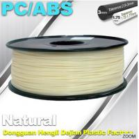 Quality Natural Color 1.75mm PC / ABS 3D Printer Filament 1.3kg / Spool wholesale