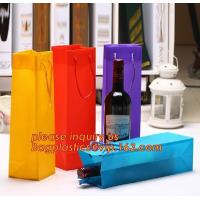 Ribbon Handle eco friendly Plastic PP Package Bag for Flowers Bouquet,Semitransparent PVC Plastic Tote Bag Environmental