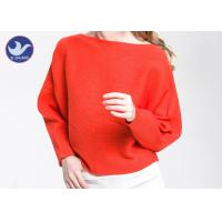 Quality Boat Neck  Womens Knit Pullover Sweater Lady Sexy Drop Shoulder Ottoman Knitted Jumper wholesale
