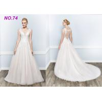 Quality Amazing Perfect Vintage Princess Bride Wedding Dress For Larger Ladies Floor Length wholesale