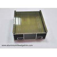 Quality 6063 - T5 Aluminium Sliding Door Frame Mullion Profile Electrophoresis Coating Champagne wholesale