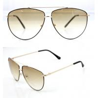 Quality Modern Men and Lady Full Frame Sunglasses With White Metal Frame wholesale