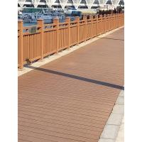 Quality Anti UV Yellow Composite Deck Railing With Real Wood Touch Finish Handrails Type wholesale