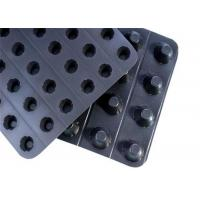 China Geocomposite Drain Plastic Dimpled Drainage Board For Water Percolation on sale